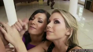 Ashli Orion and Courtney Cummz gets a mouthful cums after a nasty blowjob - video EP