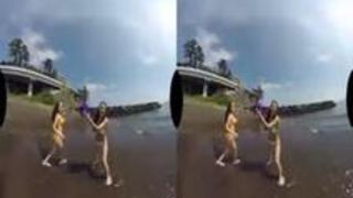 【VR】夏だ!ビーチだ!海で遊んで、イチャイチャラブラブ温泉旅行 2日目 ゴッドハンド 生中出しSEX編
