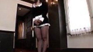 日本のパンティストッキングメイドセックスナイロンファック