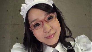 調教された眼鏡メイド  1