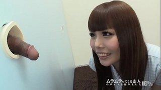 ラッキーホール新装開店!~西川りおんがラッキーホールで出てきたチ●ポを指でツンツン!1